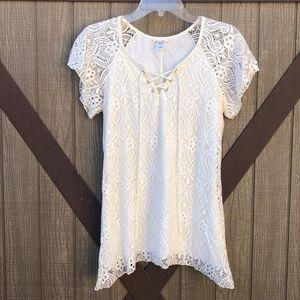 Ivory Lace T-shirt